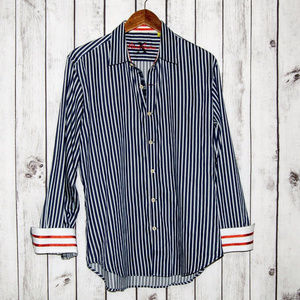 Robert Graham X Tailored Fit Button Front Shirt
